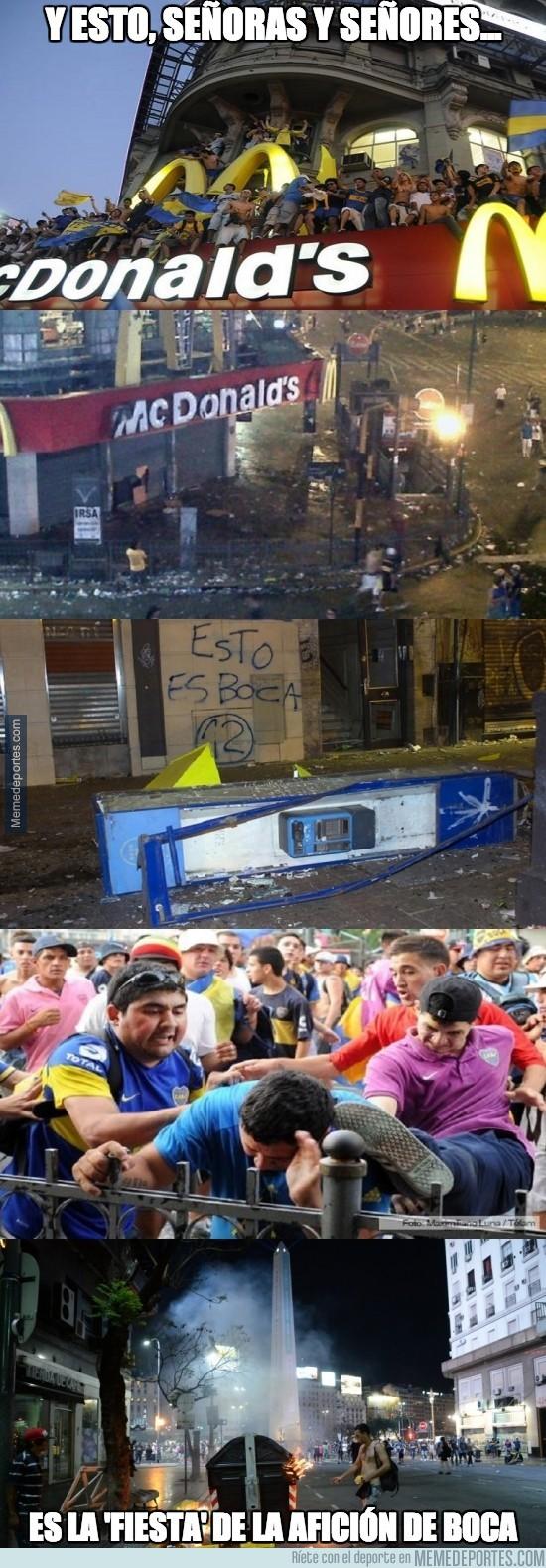 227163 - Así la lía la afición de Boca Juniors
