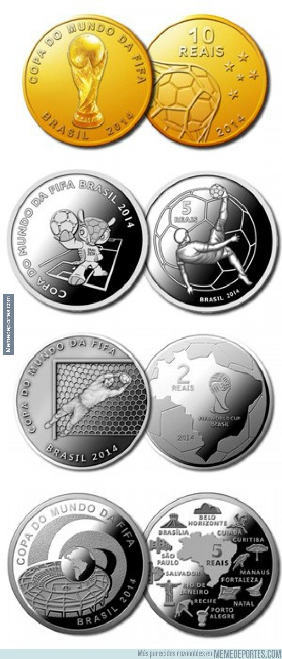 227234 - El Banco Central de Brasil hará monedas conmemorativas del Mundial ¡Shut up and take my money!