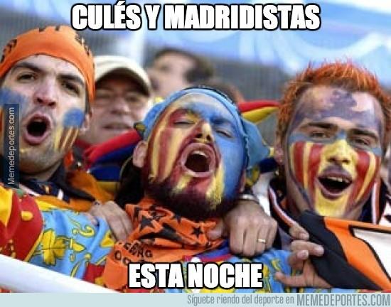 228194 - Culés y madridistas esta noche, todos con el Valencia