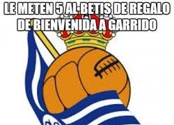 Enlace a Le meten 5 al Betis de regalo de bienvenida a Garrido