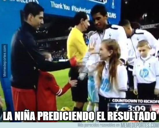 228513 - La niña amiga de Luis Suárez ya predijo el resultado en su saludo