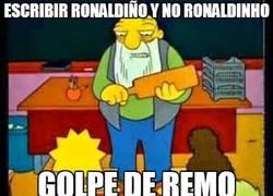 Enlace a Escribir Ronaldiño y no Ronaldinho
