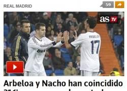 Enlace a Nacho y Arbeloa de centrales ¿Suena goleada del Valencia?