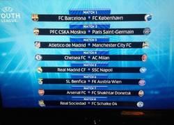 Enlace a Enfrentamientos de la Uefa Youth League, el barça ha tenido más suerte esta vez