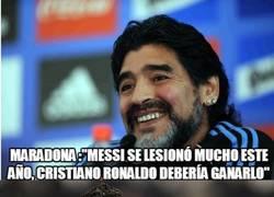 Enlace a Inesperadas declaraciones de Maradona