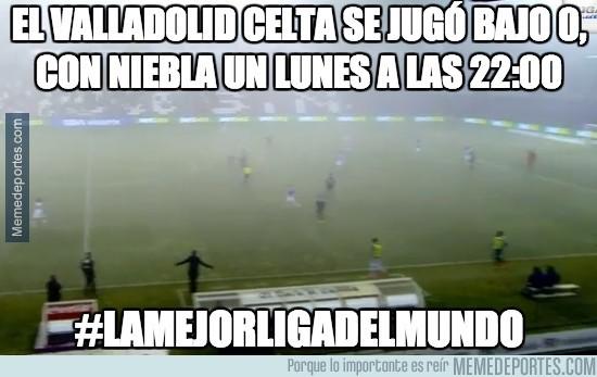229693 - El Valladolid celta se jugó bajo 0, con niebla un lunes a las 22:00