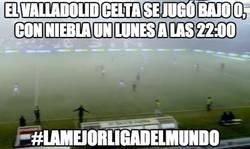 Enlace a El Valladolid celta se jugó bajo 0, con niebla un lunes a las 22:00