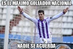 Enlace a Es el máximo goleador nacional