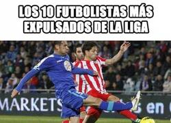 Enlace a Los 10 futbolistas más expulsados de La Liga