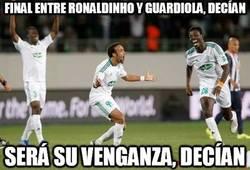 Enlace a Final entre Ronaldinho y Guardiola, decían