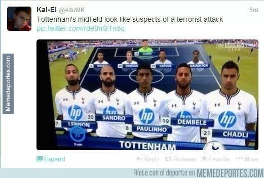 230984 - El centro del campo del Tottenham parece una lista de sospechosos de un ataque terrorista