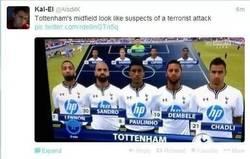 Enlace a El centro del campo del Tottenham parece una lista de sospechosos de un ataque terrorista