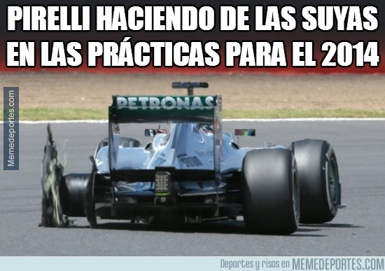 231022 - Pirelli haciendo de las suyas en las prácticas para el 2014