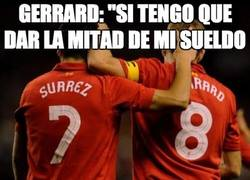 Enlace a Gerrard, el primer fan de Luis Suárez