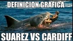 Enlace a Tiburón Suárez destrozando al Cardiff