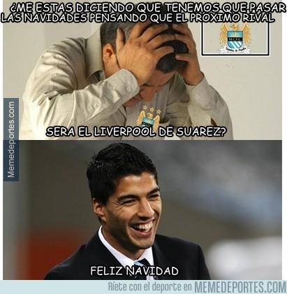 232139 - Luis Suárez desea Feliz Navidad a los fans del Manchester City