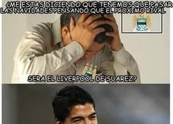 Enlace a Luis Suárez desea Feliz Navidad a los fans del Manchester City