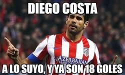 Enlace a Diego Costa sigue a lo suyo