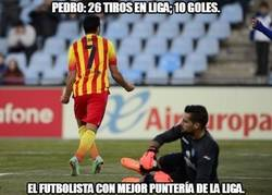 Enlace a Pedro: 26 tiros en Liga; 10 goles