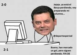 Enlace a Redacción de AS durante el Getafe-Barça, por @deportesperiod