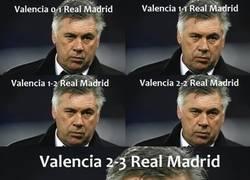 Enlace a Ancelotti, sin expresar sentimientos desde tiempos remotos