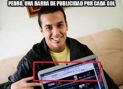 Enlace a Pedro, una barra de publicidad por cada gol