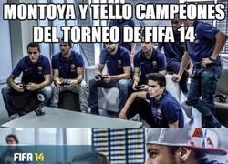 Enlace a Montoya y Tello campeones del torneo de FIFA 14