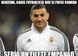 Enlace a Benzema, aquel futbolista que si fuese comida