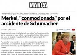 Enlace a Schumi sufrió una conmoción cerebral tras el accidente