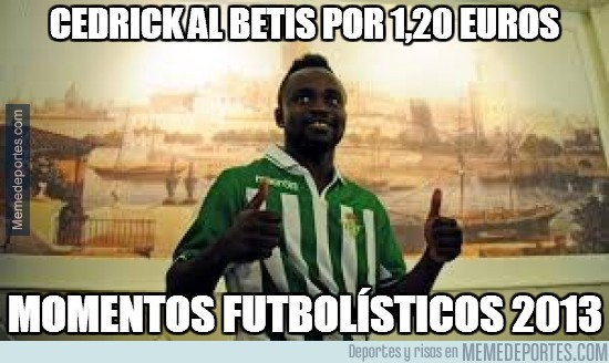 237484 - Cedrick al Betis por 1,20 euros