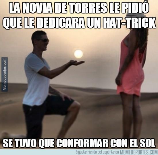 238020 - La novia de Torres le pidió que le dedicara un hat-trick