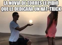 Enlace a La novia de Torres le pidió que le dedicara un hat-trick
