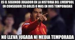Enlace a Luis Suárez a ritmo de record