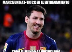 Enlace a Marca un hat-trick en el entrenamiento