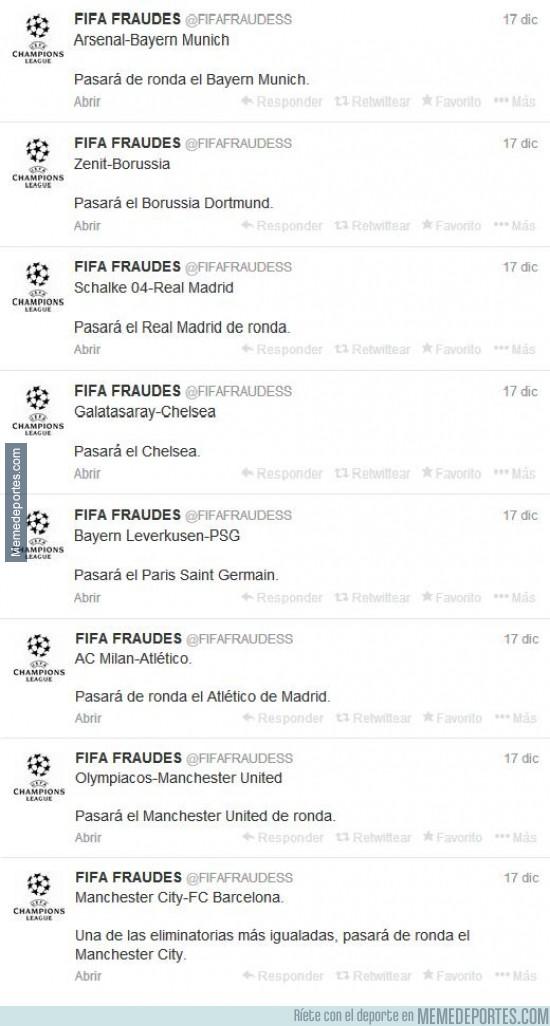 239250 - @FIFAFRAUDESS ya ha publicado los equipos que pasarán a cuartos. ¿Acertará?