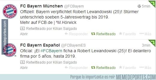 239501 - El Bayern confirma el fichaje de Lewandowski vía Twitter