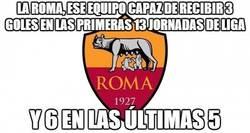 Enlace a La Roma, ese equipo capaz de recibir 3 goles en las primeras 13 jornadas de liga