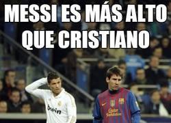 Enlace a Messi es más alto que Cristiano