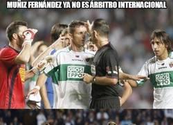 Enlace a Muñiz Fernández ya no es árbitro internacional