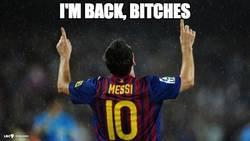 Enlace a Messi ha vuelto, con un doblete