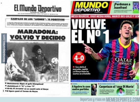 242509 - Casualidades de la vida, hoy hace 30 años, Maradona volvía de una grave lesión y marca doblete