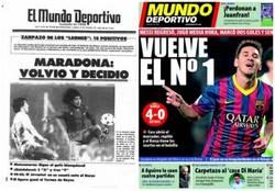 Enlace a Casualidades de la vida, hoy hace 30 años, Maradona volvía de una grave lesión y marca doblete