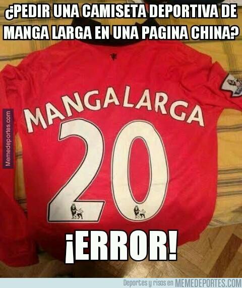 243258 - Esto es lo que pasa cuando pides la camiseta de manga larga del Manchester en una pagina china...