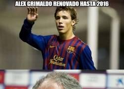 Enlace a Alex Grimaldo renovado hasta 2016