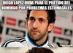 Enlace a Diego López duda para el partido del domingo por problemas estomacales