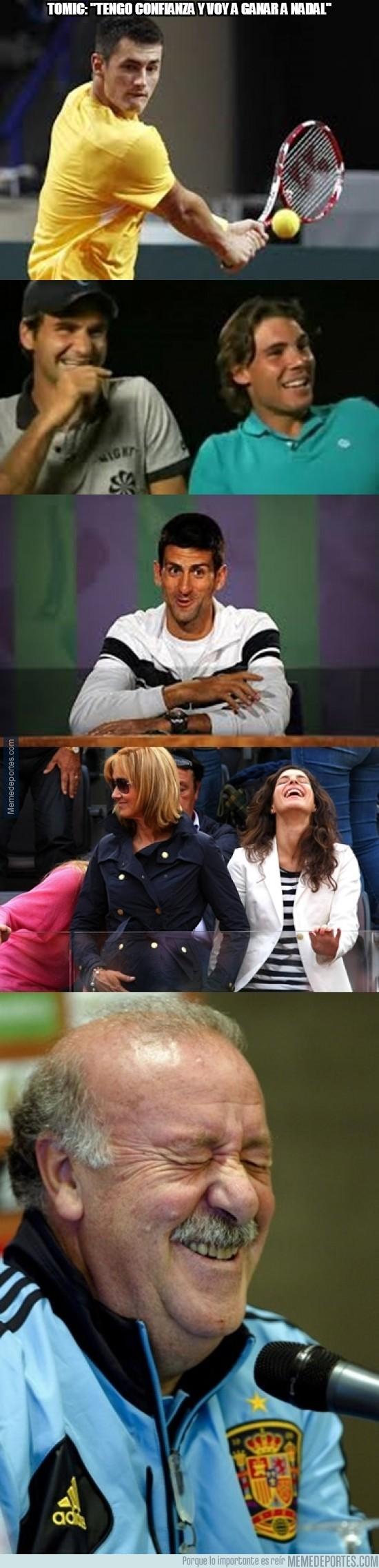 244861 - Tomic: ''tengo confianza y voy a ganar a Nadal''