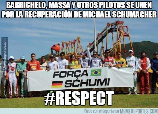 245136 - Barrichelo, Massa y otros pilotos se unen por la recuperación de Michael Schumacher