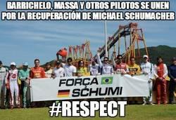 Enlace a Barrichelo, Massa y otros pilotos se unen por la recuperación de Michael Schumacher