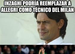 Enlace a Inzaghi podría reemplazar a Allegri como técnico del Milan