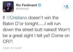 Enlace a Más vale que gane CR7, no creo que nadie quiera ver a Ferdinand desnudo